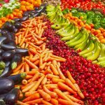 Display of Fresh Fruit and Vegetables